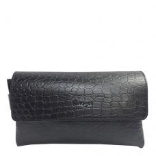 Барсетка кожаная мужская Karya 0817-53 черного цвета