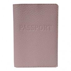Обложка для паспорта кожаная Астра (Украина) 58850015 розового цвета