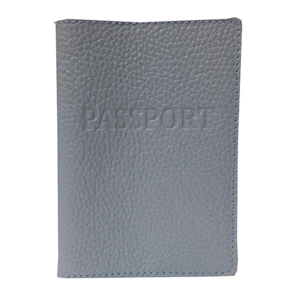 Обложка для паспорта кожаная Felicita 58850016 голубого цвета