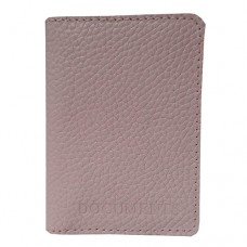 Обложка для документов кожаная Астра (Украина) 58850026 розового цвета