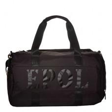 Сумка дорожная унисекс  EPOL 6025-17 черного цвета