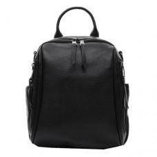Женский кожаный рюкзак 1105 черного цвета