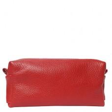 Косметичка женская кожаная Vito Torelli ST-001 красного цвета