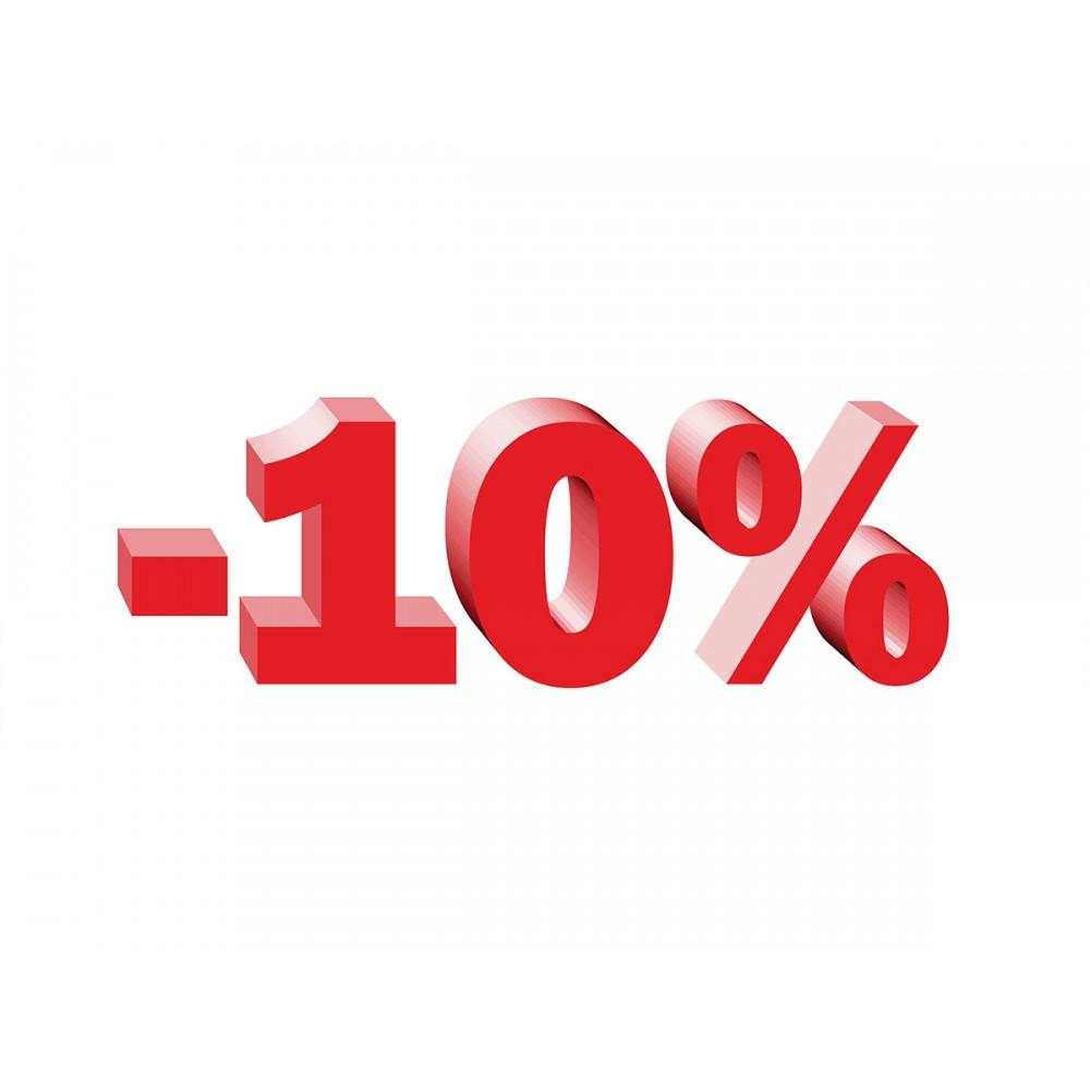 При регистрации скидка 10%